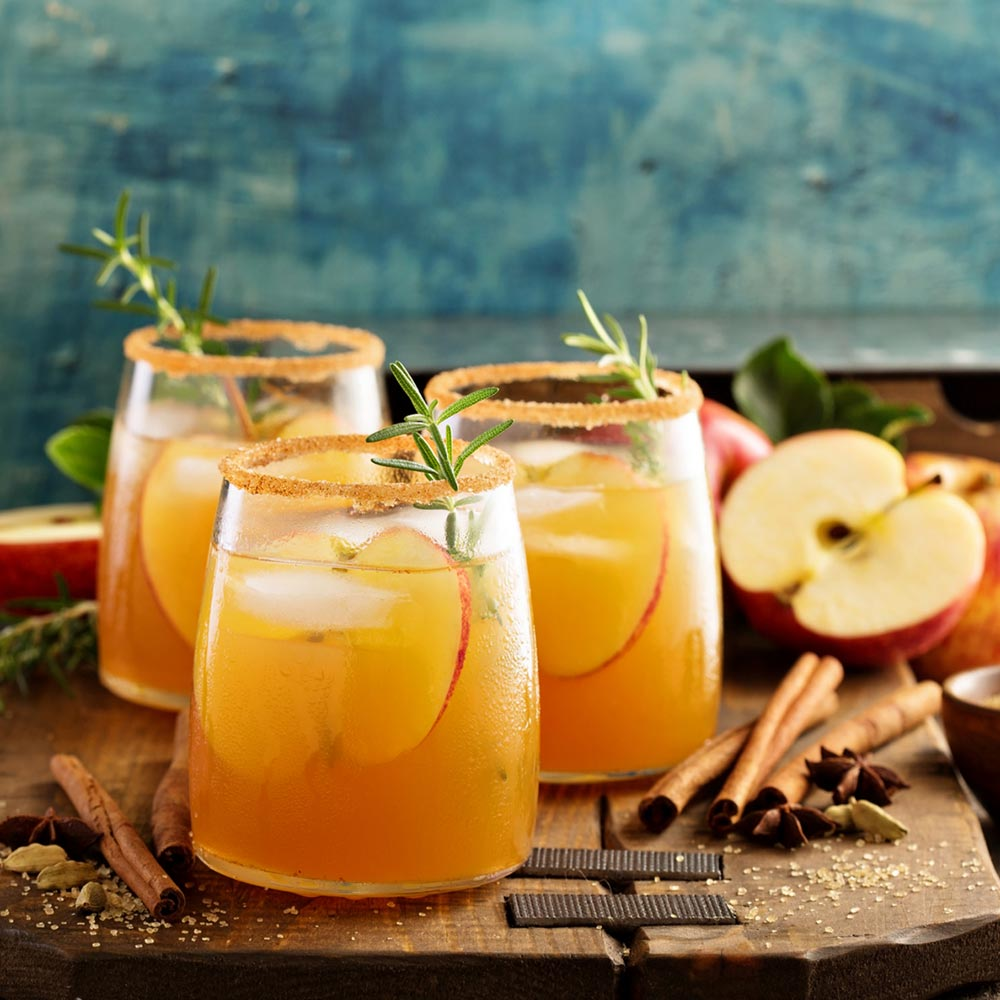 Chilled Spiced Apple Sipper