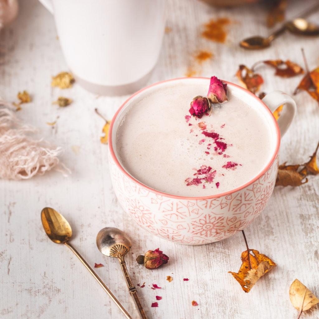 Pink Rose Milk Latte