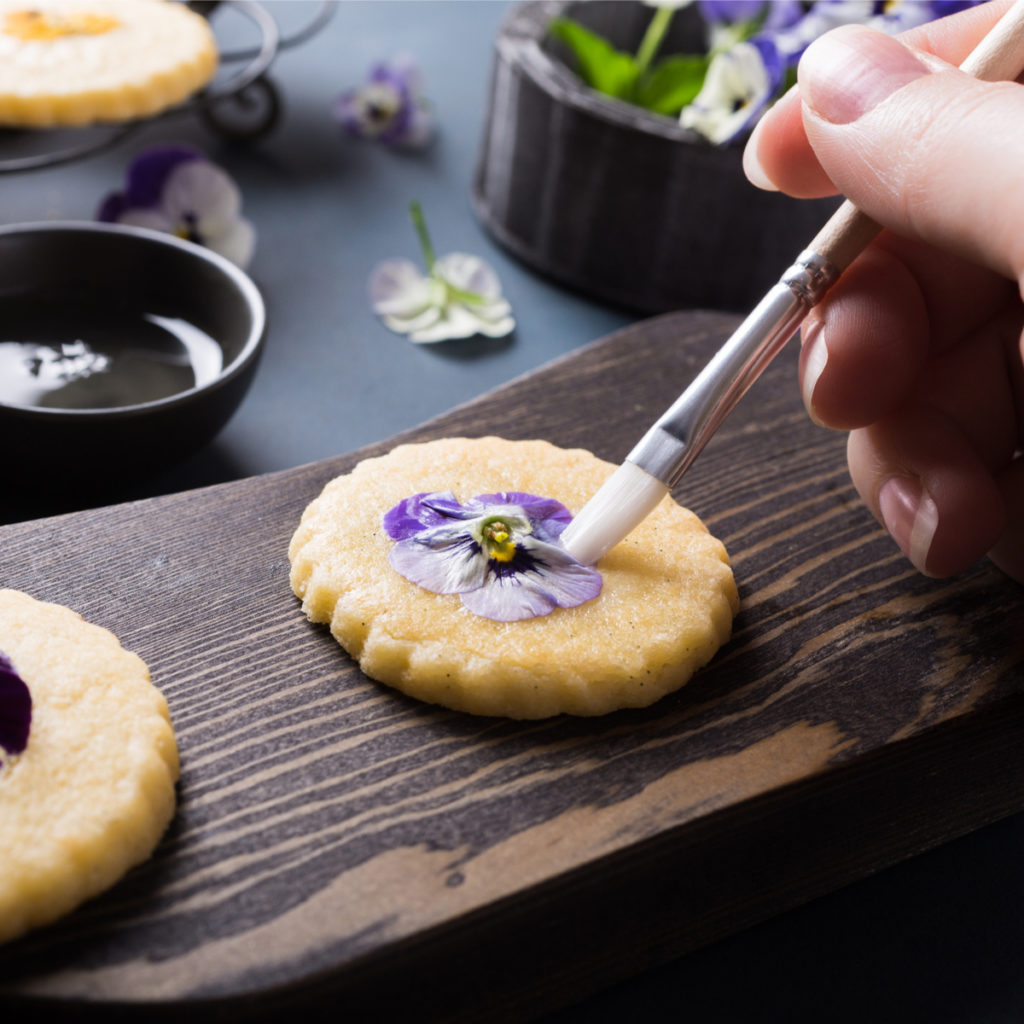Edible Flower Cookie Recipe