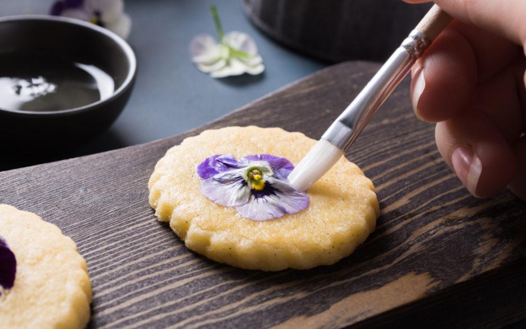 Edible Flower Cookie Recipe