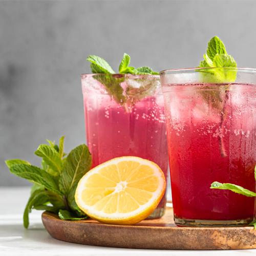 Lemon Mint Hibiscus Sparkler