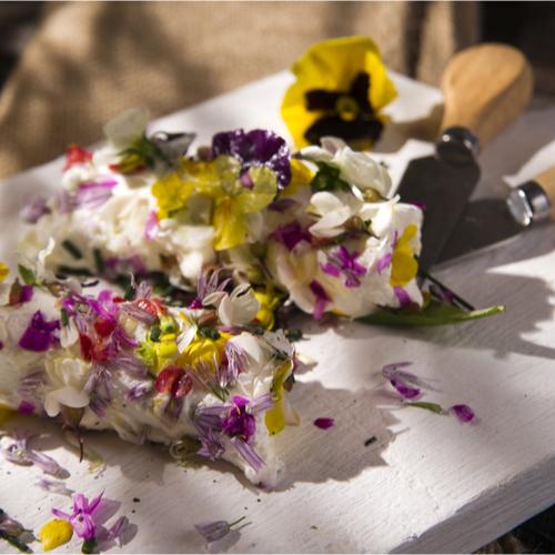 Flower Goat Cheese Rolls