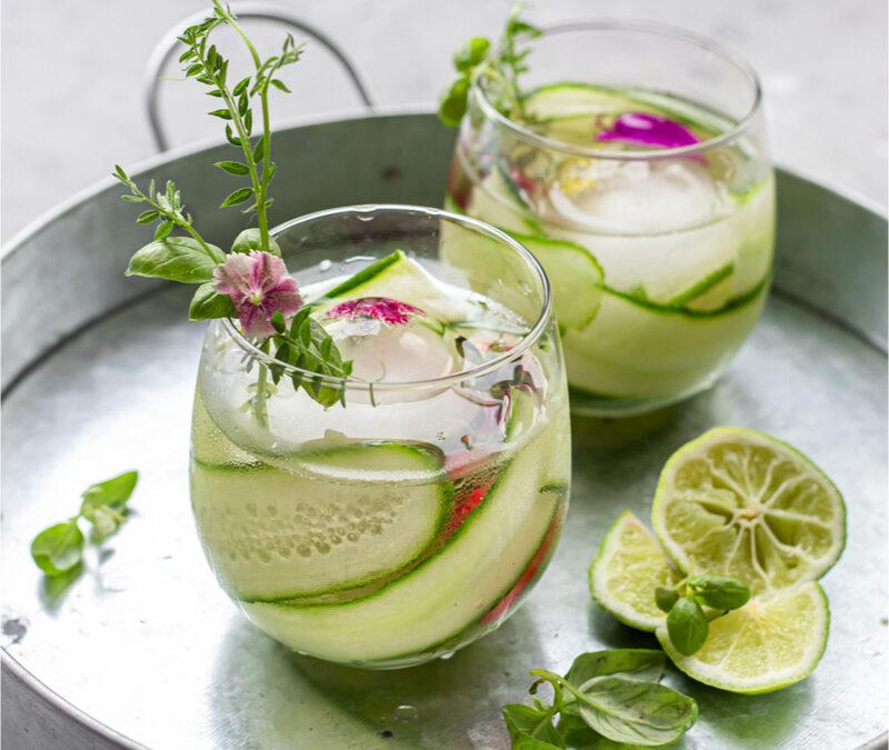 Cucumber Basil Lime Sipper
